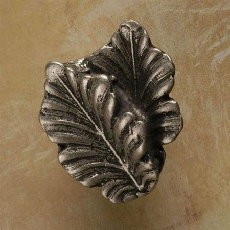 Fancy Double Leaf Knob - Fancy double oak leaf knob (Set of 10) (Antique Bronze)