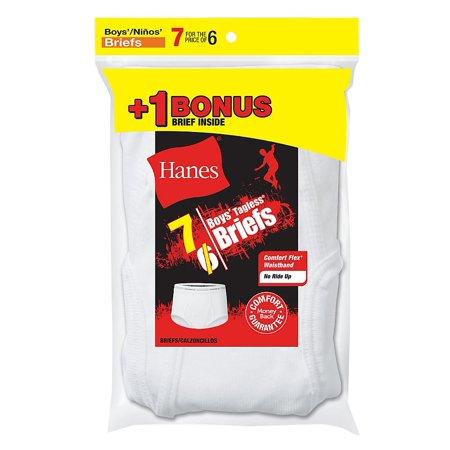 Cotton Tagless Brief - Boys' TAGLESS® White Briefs 7-Pack (Includes 1 Free Bonus Boxer Brief) B252P7