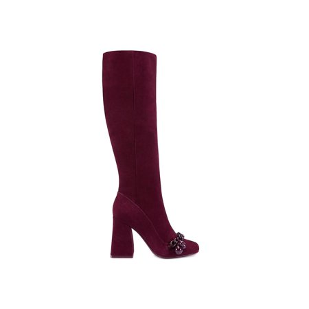 Addison Leather - Tory Burch Womens Addison Leather Round Toe Knee High Fashion Boots