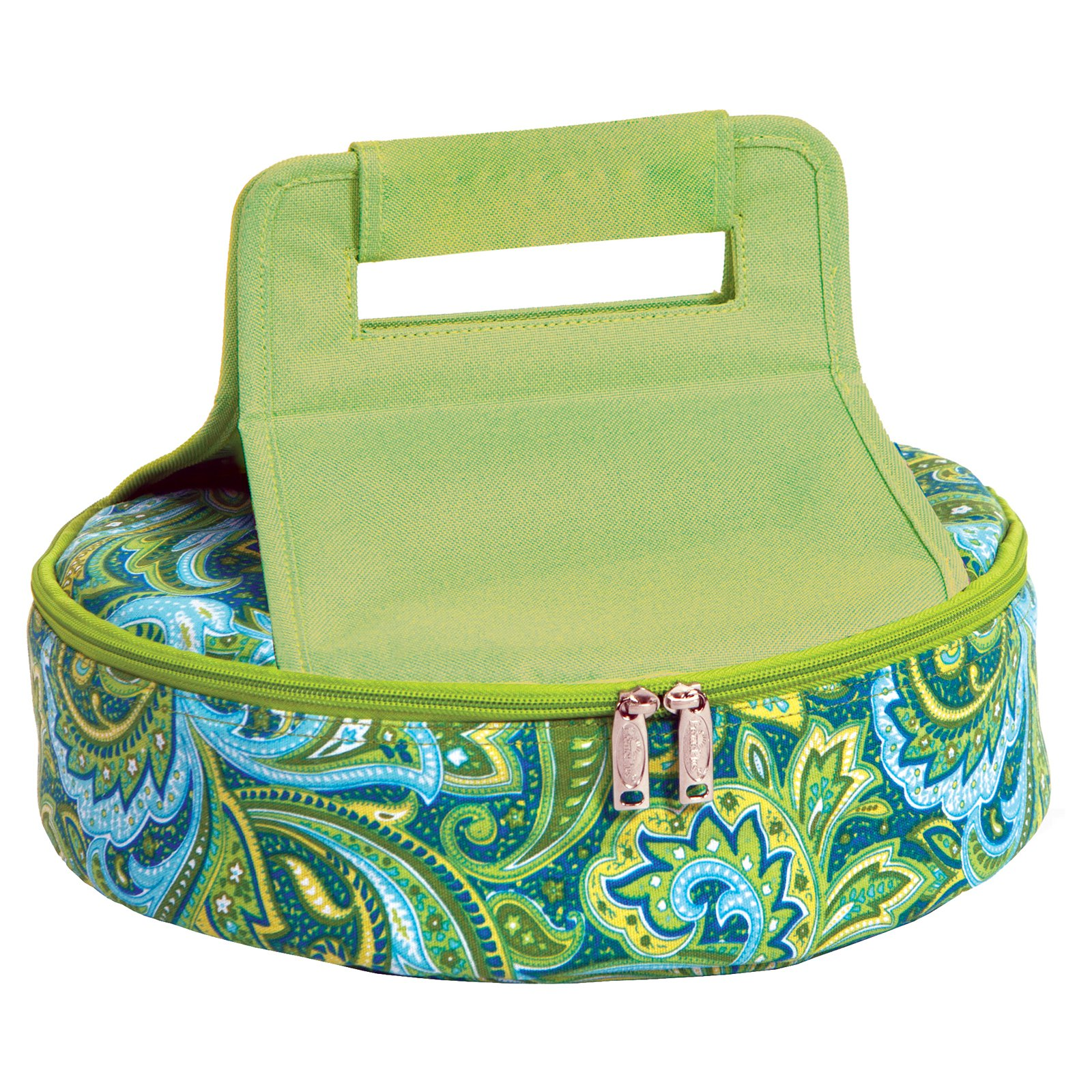 Picnic Plus Cake and Carry Green Paisley Cooler