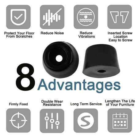 12pcs Rubber Feet Bumper Printer Chopping Board Speaker Leg Pads, D13x11xH9mm - image 5 of 7