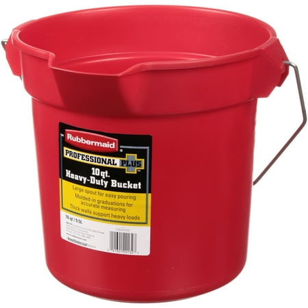 Rubbermaid® Professional Plus™ 10 qt. Heavy-Duty Bucket (Small Red Buckets)