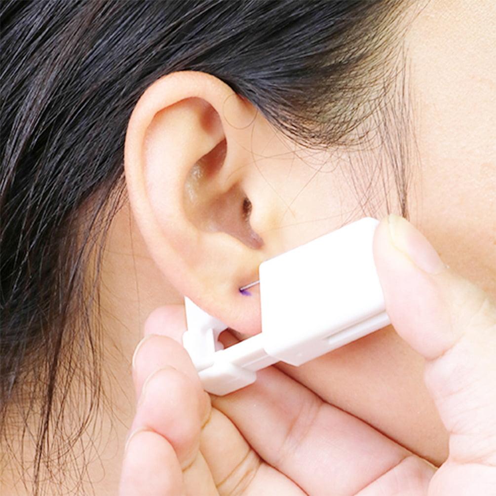 2pcs Portable Ear Kit Disposable Ear Stud Kit Sterile No Pain Nose