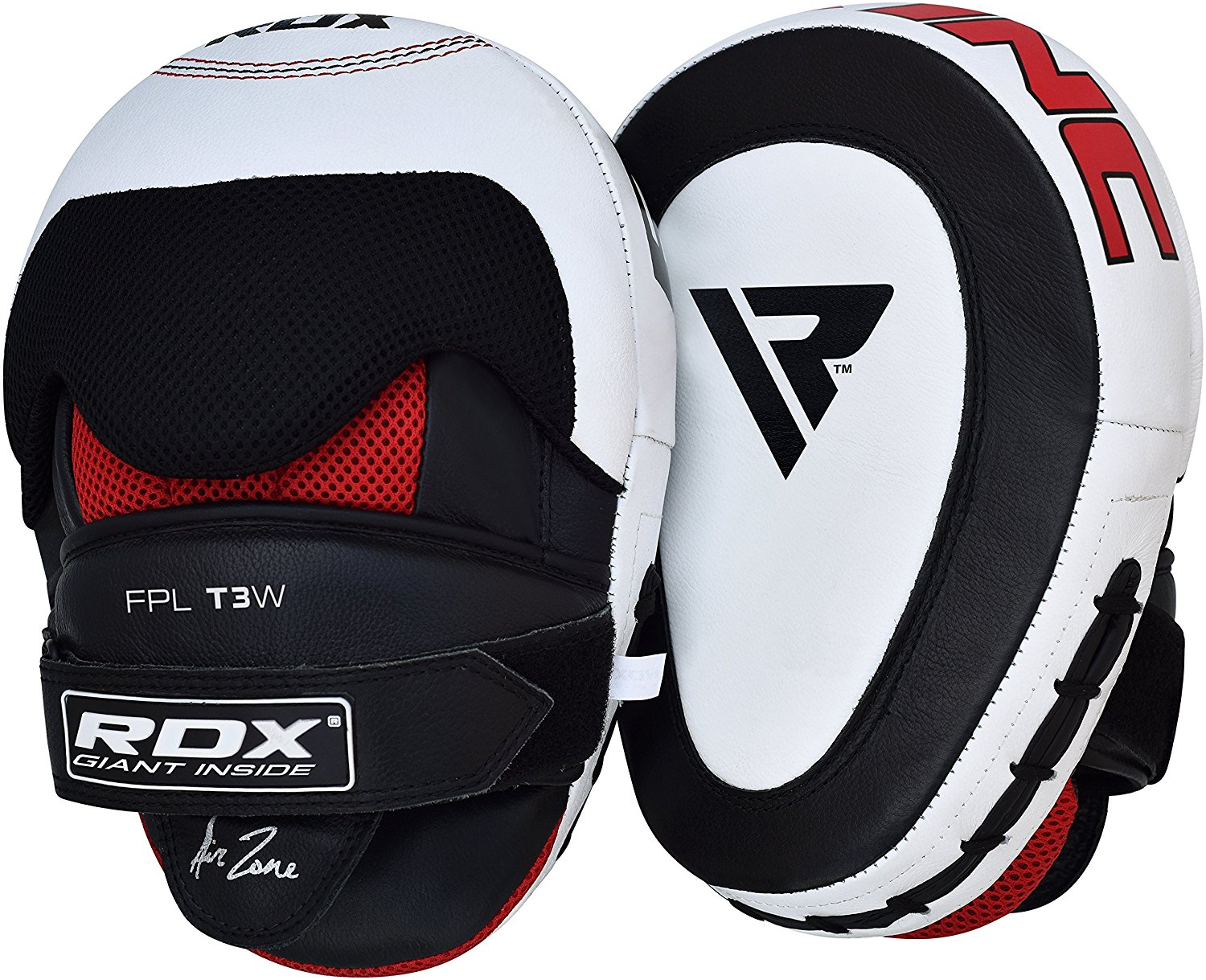 RDX Cow Hide Leather Focus Mitts Pads Kick Training Boxing by RDX