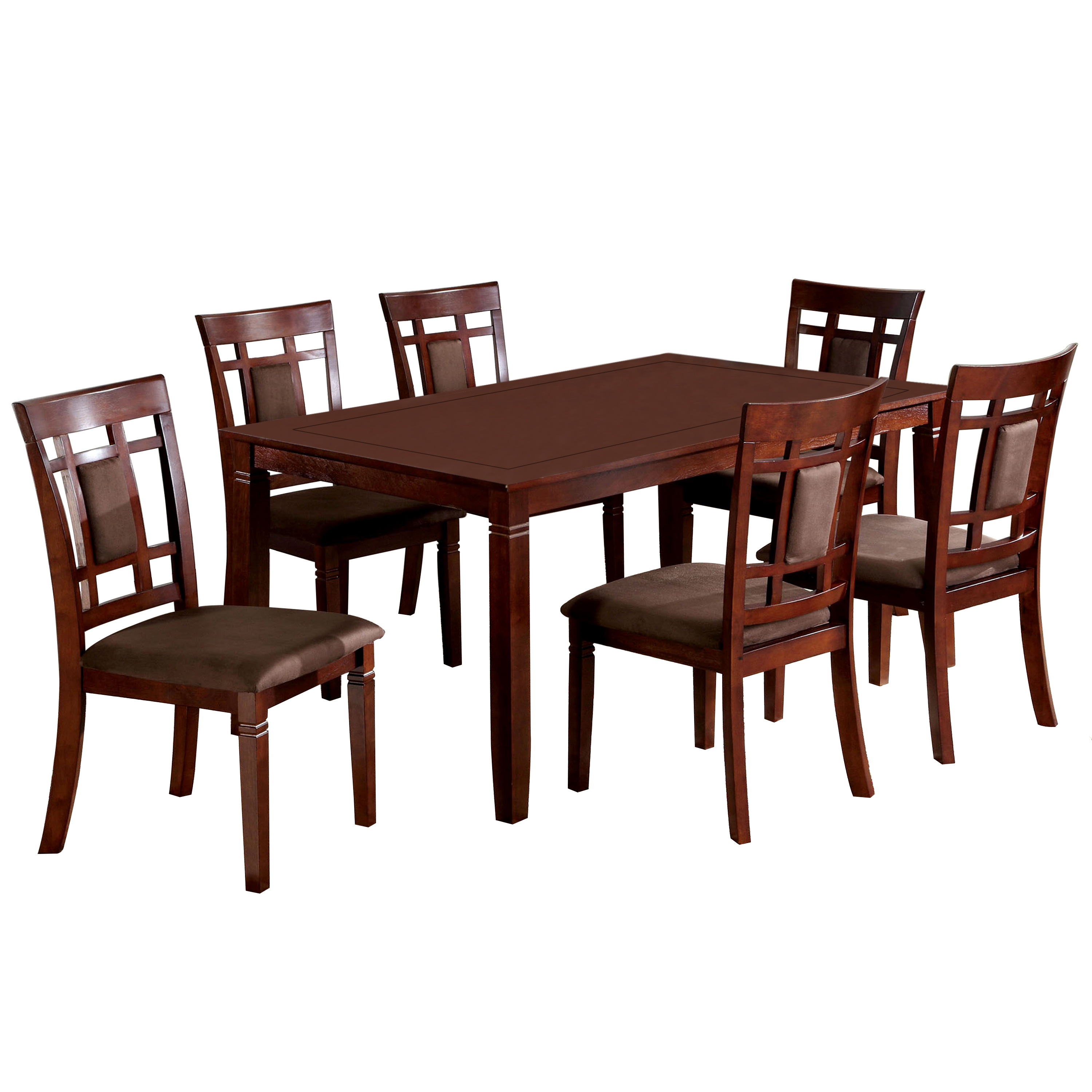 Venetian Montclair 7-Piece Dining Set, Dark Cherry, Box 1 of 2