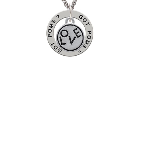 Love in Circle Got Poms? Affirmation Ring Necklace