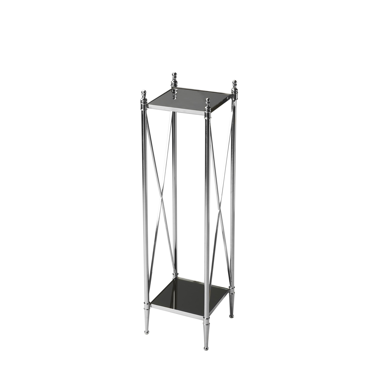 Butler Deidre Glass & Metal Pedestal Plant Stand by Butler