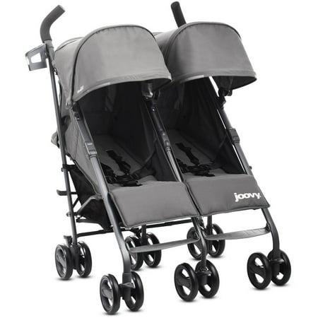 Twin Stroller - Joovy Twin Groove Ultralight Double Twin Stroller Double Umbrella Stroller, Charcoal