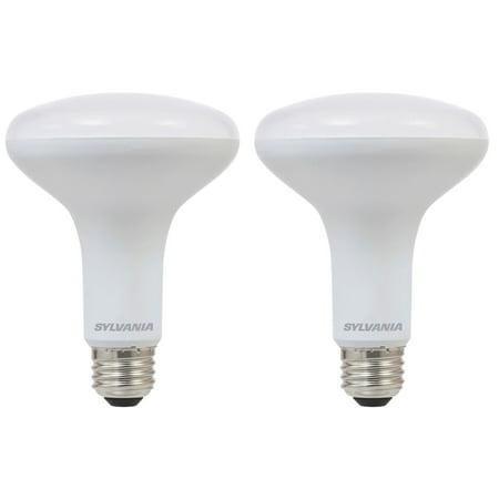 Sylvania BR30 65W Energy Saving Dimmable 2700K LED Flood Light Bulb (2 Pack)