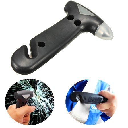2 in 1 Window Glass Breaker Seatbelt Cutter Safety Emergency Escape Help Tool Car Hammer