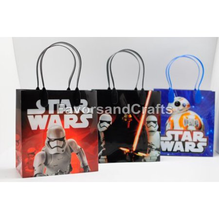 12 Star Wars Party Favor Bags Birthday Candy Treat Favors Gifts Plastic Bolsas De Recuerdo (Star Wars Favor Bags)