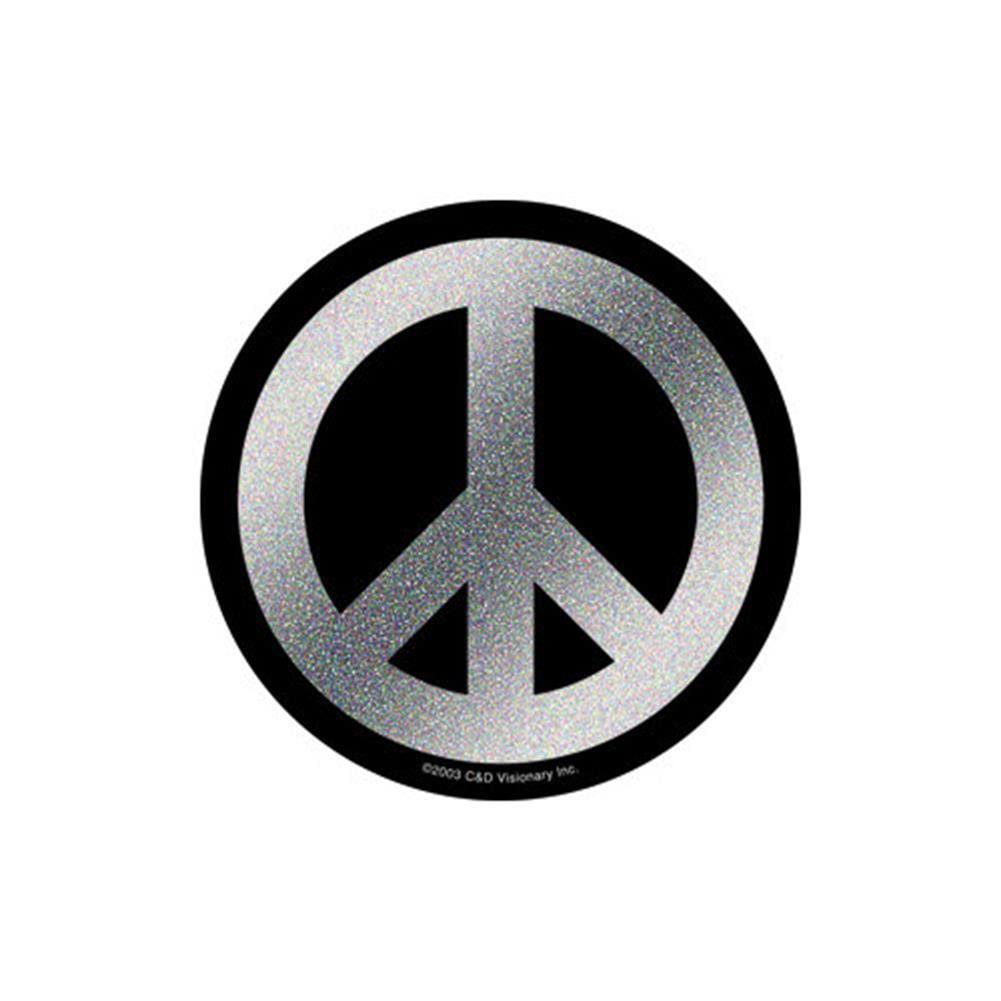 "PEACE SIGN glittery usa colors STICKER **Free Shipping** 4/"" x 4/"" window bumper"