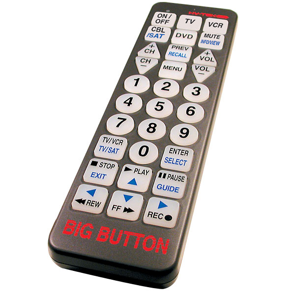 Big Button Universal Remote Control by DO MORE