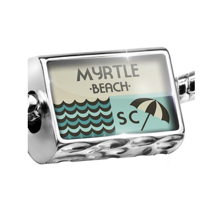 Myrtle Beach Golf Charm (Bead US Beaches vacation Myrtle Beach Charm Fits All European Bracelets )