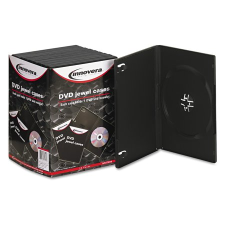 innovera standard dvd case black 10 pack walmart com