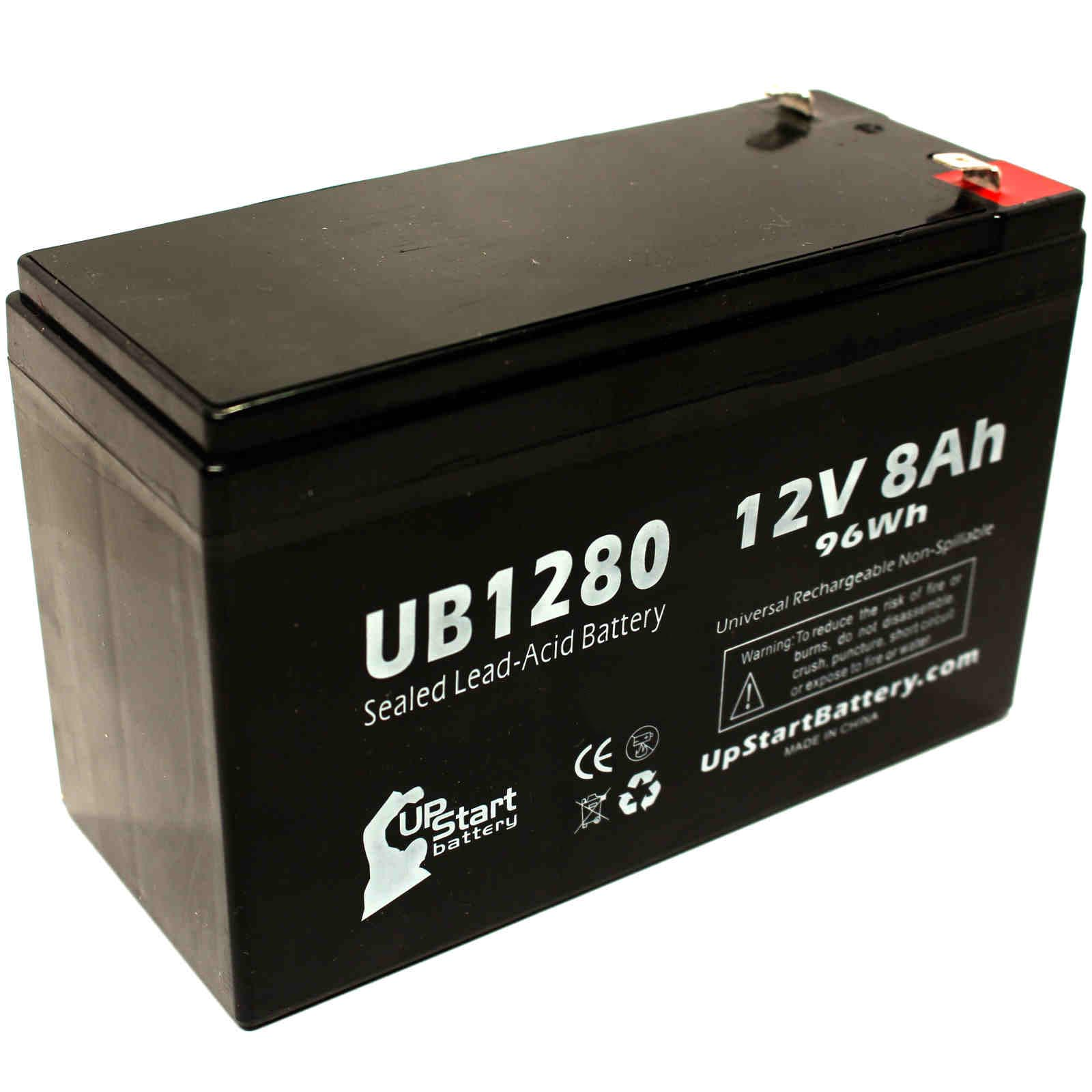 Tripp Lite SMART750USB Battery Replacement - UB1280 Universal Sealed Lead Acid Battery (12V, 8Ah, 8000mAh, F1 Terminal, AGM, SLA) - Includes TWO F1 to F2 Terminal Adapters - image 4 of 4