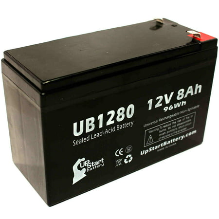 2x Pack - APC BACK-UPS 800 RS800 Battery Replacement - UB1280 Universal Sealed Lead Acid Battery (12V, 8Ah, 8000mAh, F1 Terminal, AGM, SLA) - Includes 4 F1 to F2 Terminal Adapters - image 2 de 4