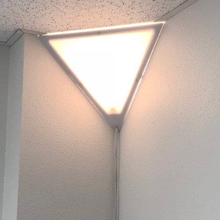 Beacon Triangle Corner Light, Plug-In 17' Cord, White by Home Concept