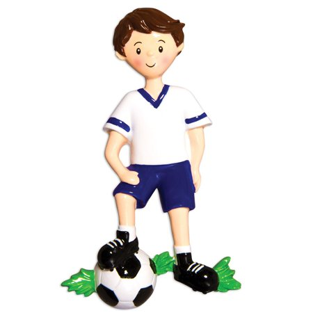 Sports Boy SOCCER Player Personalized Christmas Ornament DO-IT-YOURSELF ()