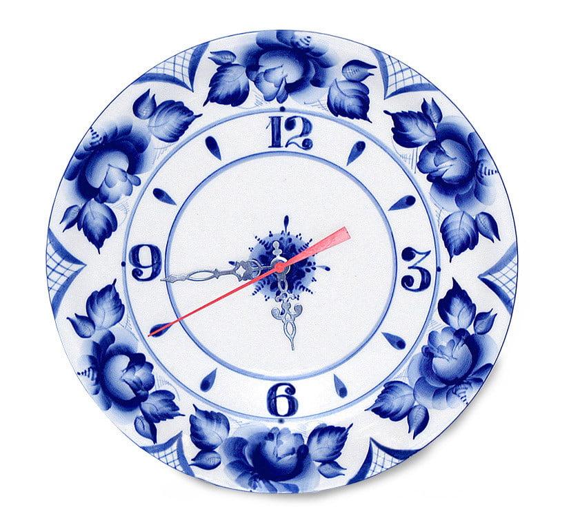 Cobalt Blue Bird Nest Hanging Clock Wall Clock Wall Decor