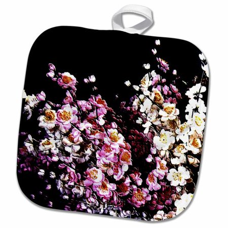 3dRose Japanese Cherry Blossom Flowers Floral Branches on Background Flowery Japan Pot Holder