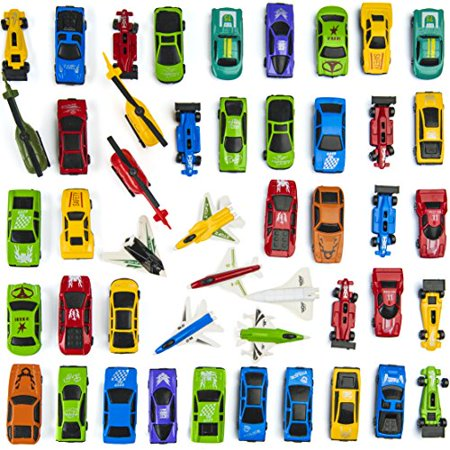 Cars Easter Eggs (Prextex 50 Pc Die Cast Toy Cars Party Favors Easter Eggs Filler or Cake Toppers Stocking Stuffers Cars Toys for)