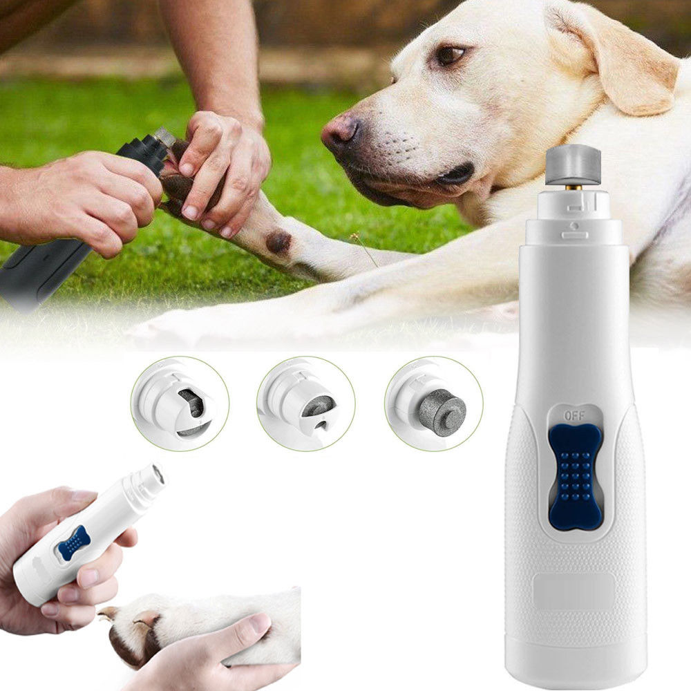 Dog Grooming Trimmer Nail Grinder Clipper Battery Powered Pet Pofessional Tool