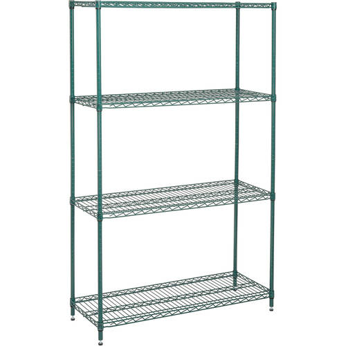 Nexel Wire Shelving Unit, Multiple Sizes Available, Green Epoxy Finish