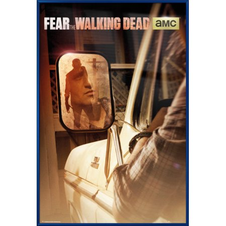 - Fear The Walking Dead - Framed TV Show Poster / Print (Promo / Zombie In Mirror) (Size: 24