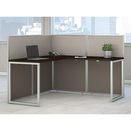 Scranton & Co L Shaped Wood Computer Desk in Mocha Cherry - image 5 de 8