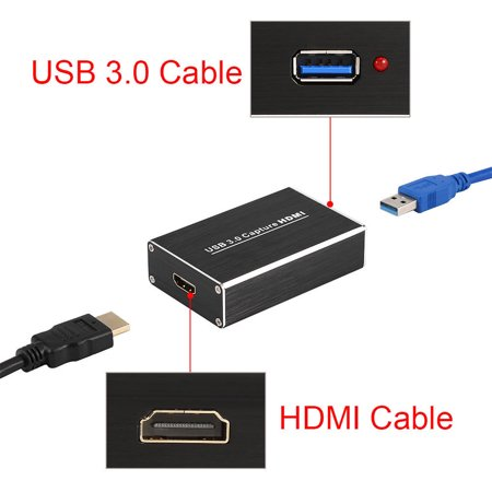 axGear HDMI to USB3 0 Video Capture Adapter Box 1080P Dongle Card for Linux  Windows Mac