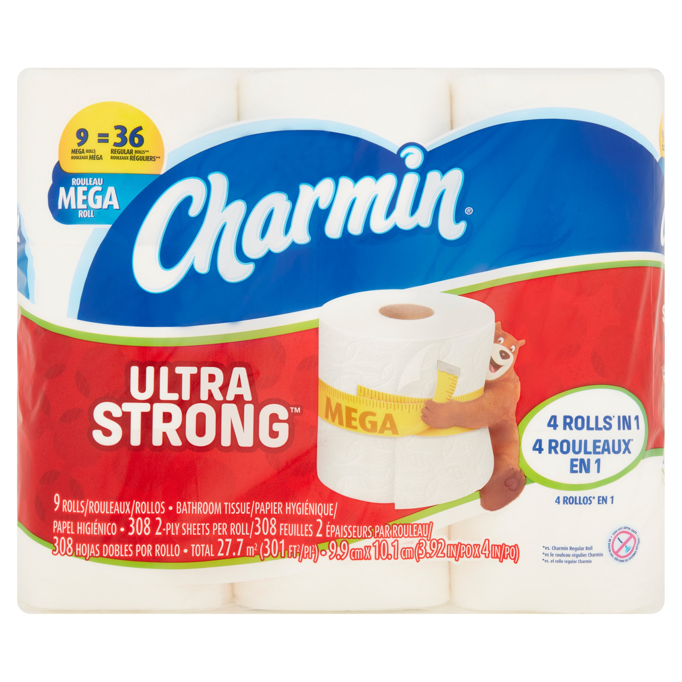 Charmin Ultra Strong Toilet Paper 9 Mega Rolls by Hoberg