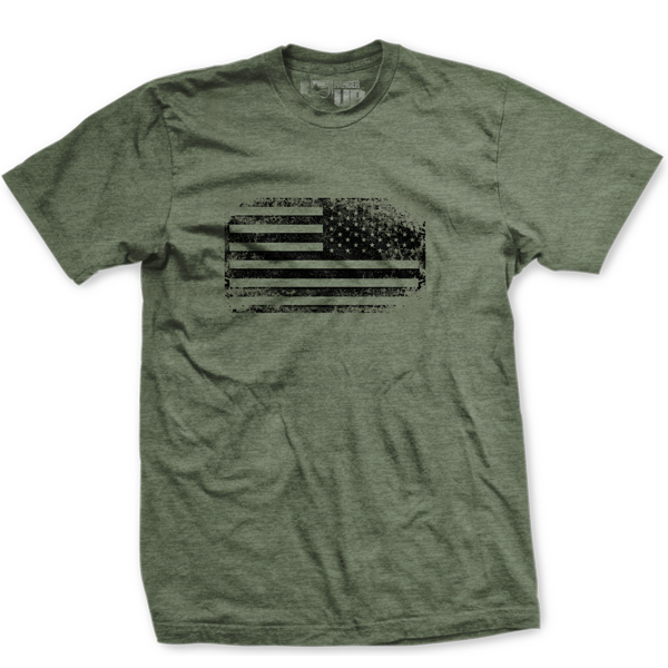 Ranger Up Best of Times Combat Flag Vintage T-Shirt - Sage