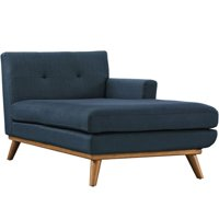 Modway Engage Right Arm Chaise Lounge in Azure