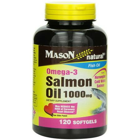 Mason Natural oméga-3 d'huile de saumon 1000 mg Gélules 120 ch