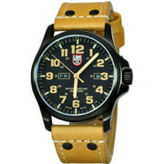 Luminox Men's 1925 Atacama Field 1920 Series Light Brown Genuine Leather Black Dial Watch