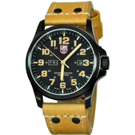 - 1925 Men's Atacama Field 1920 Series Light Brown Genuine Leather Black Dial Watch