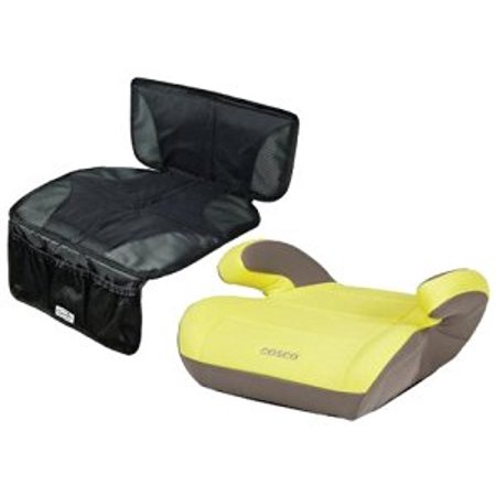 Cosco Juvenile Top Side Booster Seat with Car Seat Protector Mat ...
