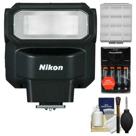 Nikon Sb 300 Af Speedlight Flash With Batteries   Charger   Cleaning   Accessory Kit For D3200  D3300  D5200  D5300  D7000  D7100 Dslr Cameras