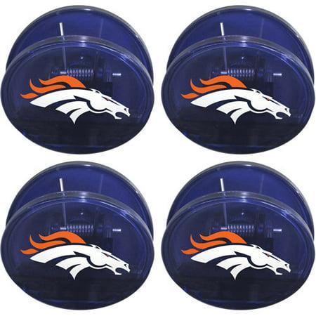 Chip Clip Set - NFL Denver Broncos Magnetic Chip Clip Set, 4pk