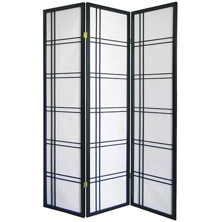 Girard 3-Panel Room Divider, Black - Girard 3-Panel Room Divider, Black - Walmart.com