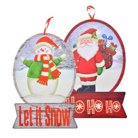 Christmas House Holiday Snow Globe Signs