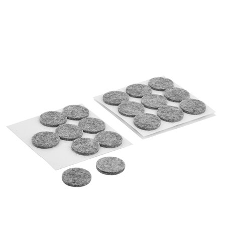 Unique Bargains 27 Pcs Antislip Felt Round 22mm Adhesive Chair Foot Cover Table Furniture Leg Protector Gray (Felt Top Table)