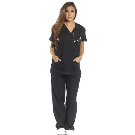 Just Love Women's Scrub Sets Six Pocket Medical Scrubs (V-Neck with Cargo