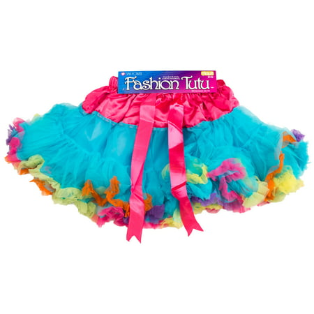 Star Power Women 80's Party Halloween Costume Tutu Skirt, Rainbow, (80's Sports Stars Costumes)