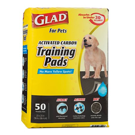 Glad™ for Pets Black Charcoal Puppy Pads | Puppy Potty Training Pads That ABSORB & NEUTRALIZE Urine Instantly | New & Improved Quality, 50 (Potty Training A Dog In An Apartment)