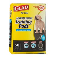 Glad™ for Pets Black Charcoal Puppy Pads | Puppy Potty Training Pads That ABSORB & NEUTRALIZE Urine Instantly | New & Improved Quality, 50 count