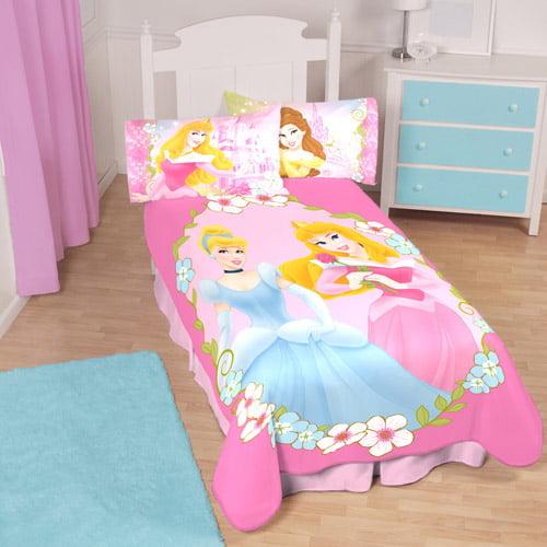 DISNEY PRINCESS FLEECE BLANKETS KIDS BEDROOM GIFT GIRLS BED ROOM CHILDRENS