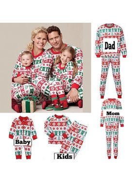XMAS Family Matching Christmas Pajamas Set Womens MensKids Sleepwear Nightwear