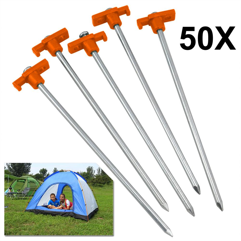 10Pcs//SET Tent pegs Aluminum Alloy Tent nail Tent Stake Nails Ground PiHFZT